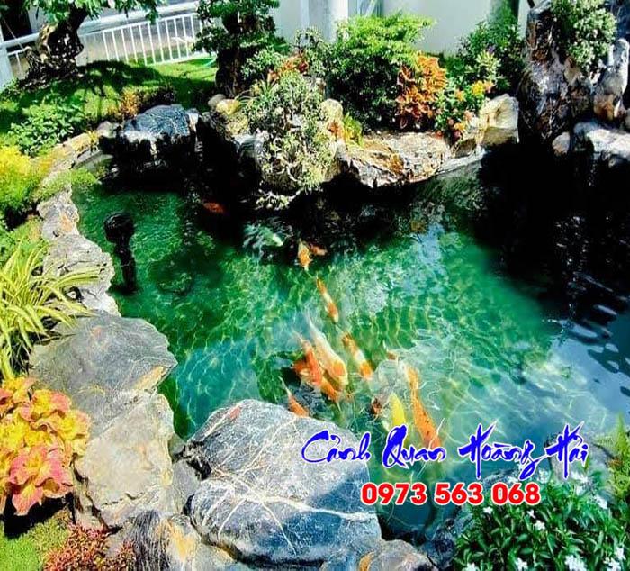 Hồ cá koi sân vườn Đồng Nai