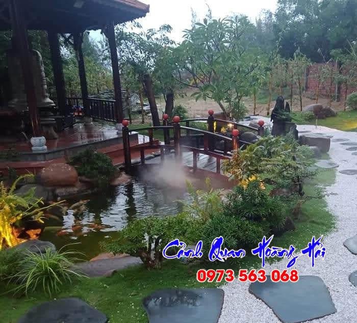 Hồ cá koi sân vườn Gia Lai