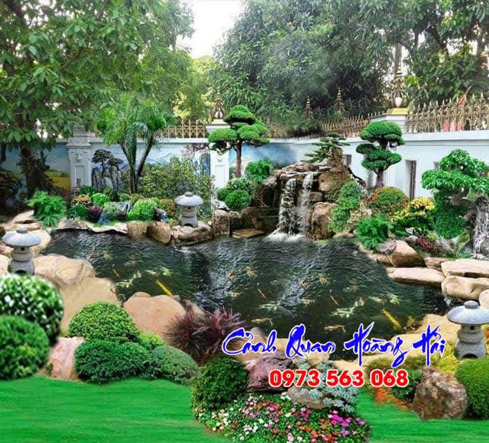 Mẫu hồ cá koi sân vườn đẹp 01